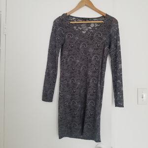 Aritzia Talula Gray lace dress